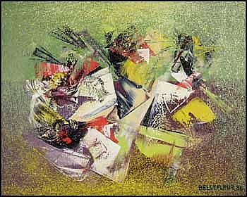 Léon Bellefleur 1910 - 2007 Canadian oil on canvas Joyeux triangles