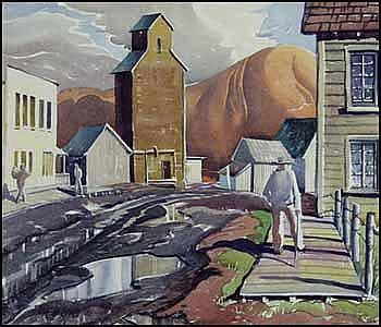 Henry George Glyde 1906 - 1998 Canadian watercolour on paper Rosebud, Alberta