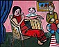 Maxwell Bennett Bates 1906 - 1980 Canadian oil on canvas Family, Maxwell Bates, Click for value