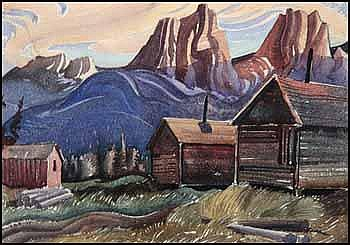 Henry George Glyde 1906 - 1998 Canadian watercolour on paper The Three Sisters