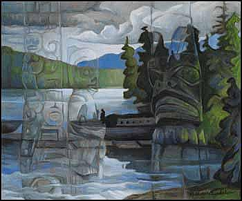 Nell Mary Bradshaw 1904 - 1997 Canadian oil on