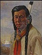 Father Henry Metzger 1877 - 1949 oil on canvas Chief Achim, Cree Indian A03F-E01095-001 14 x 18in 35.6 x 45.7 centimeters signed and on verso titled Provenance: Private Collection, Toronto