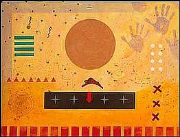 Doug Coffin 1946 - American acrylic on canvas Buffalo Sun Dream