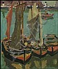 James Wilson Morrice 1865 - 1924 Canadian oil on panel Boats in the Harbour