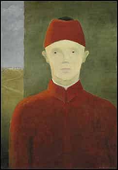 Jean Paul Lemieux 1904 - 1990 Canadian oil on canvas Hommage à la Toscane