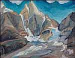 Bess Larkin Housser Harris 1890 - 1969 Canadian oil on board Oesa Country