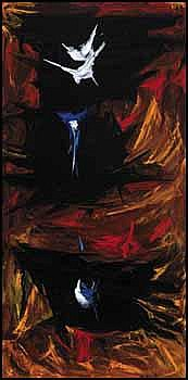 Rita Letendre 1928 - Canadian oil on canvas