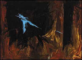 Rita Letendre 1928 - Canadian oil on canvas Les