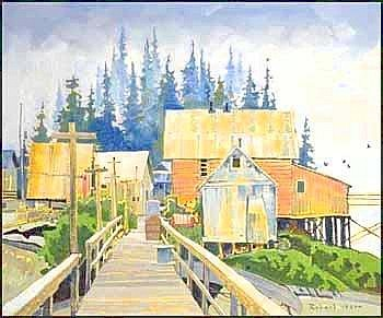 ROBERT GENN 1936 - Canadian The Baths at Baranoff oil on canvas, signed and on verso signed, titled and dated 1978 30 x 36in, 76.2 x 91.4cm Provenance: Private Collection, Ontario