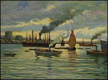 Joseph Giunta 1911 - 2001 Canadian oil on board