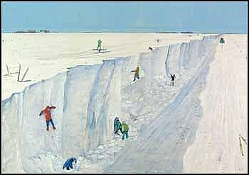 William Kurelek 1927 - 1977 children playing in