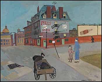 Maxwell Bennett Bates 1906 - 1980 Canadian oil on