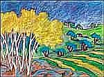 Lupe Rodriguez 1953 - 2008 Canadian pastel on paper Vuelta a Gibralta