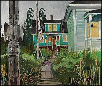Robert Genn 1936 - Canadian oil on canvas Blue