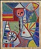 Léon Bellefleur 1910 - 2007 Canadian oil on card, Leon Bellefleur, Click for value