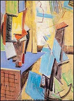 Hortense Mattice Gordon 1887 - 1961 Canadian oil on canvas Studio Impressions
