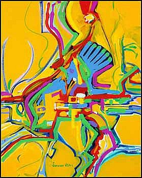 Alex Simeon Janvier 1935 - Canadian acrylic on