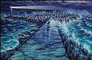 Paul Alexander Goranson 1911 - 2002 Canadian oil on canvas The Breakwater