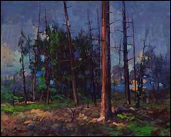 Klement Olsansky 1909 - 1963 Canadian oil on canvas Forest Scene