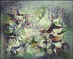 Léon Bellefleur 1910 - 2007 Canadian oil on canvas