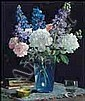 Richard Jack 1866 - 1952 Canadian oil on board Spring Flowers, Richard Jack, Click for value