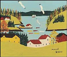 Maud Lewis 1903 - 1970 Canadian oil on board Sandy