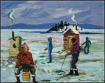 Henri Leopold Masson 1907 - 1996 Canadian oil on