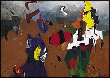 Jack Leonard Shadbolt 1909 - 1998 Canadian acrylic
