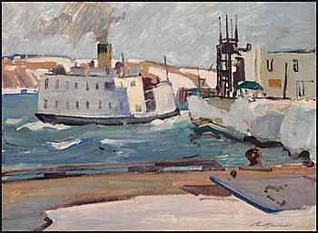 Lorne Holland Bouchard 1913 - 1978 Canadian oil on