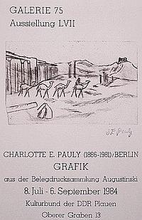 Pauly, Charlotte E. (1886 Stampen - 1981 Berlin)