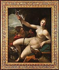 HANS VON AACHEN (1552-1615) DIANA RESTING AFTER THE HUNT