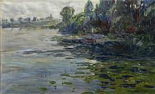 ALOIS KALVODA (1875-1934) LANDSCAPE WITH A POND