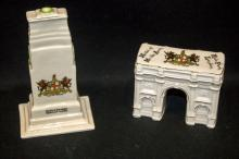 TWO GOSS CRESTED WARE CHINE,