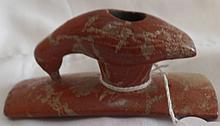 Hopewell Stone Effigy Pipe