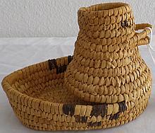 Papago Duck Effigy Basket