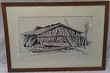 Framed Tom Knapp Drawing