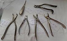 6 Assorted Antique Dental Instruments