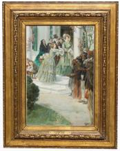 "Louis Loeb (1866 - 1909) ""Plantation Scene"""