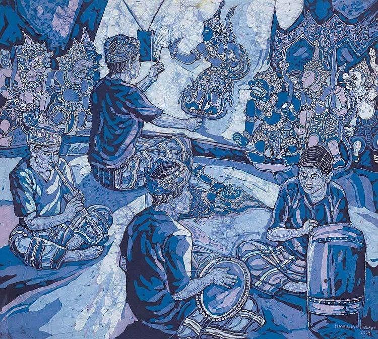ISMAIL MAT HUSSIN (b. 1938), Wayang Kulit, 2009, Batik