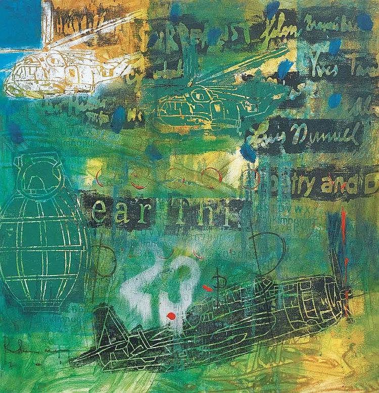 RADUAN MAN (b. 1978), Warrior I, 2010, Mixed media on canvas