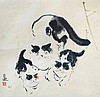 Zheng Yuebo 郑月波, Motherly Love 母爱 (undated), ink and colour on rice paper mounted on scroll, Yuebo Zheng, Click for value