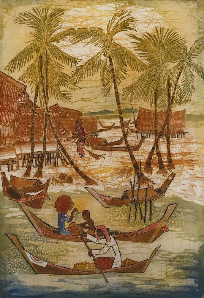 Tan Thean Song, Seaside (1989), batik