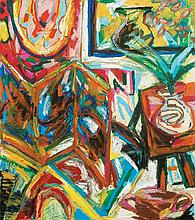 RAFIEE GHANI (b. 1962) Dusun Raja, 2000, Mixed media on canvas