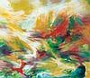 YUSOF GHANI (b. 1950) Ombak Sutera 13, 2013, Mixed media on Fuji cloth, Yusof Ghani, MYR24,000