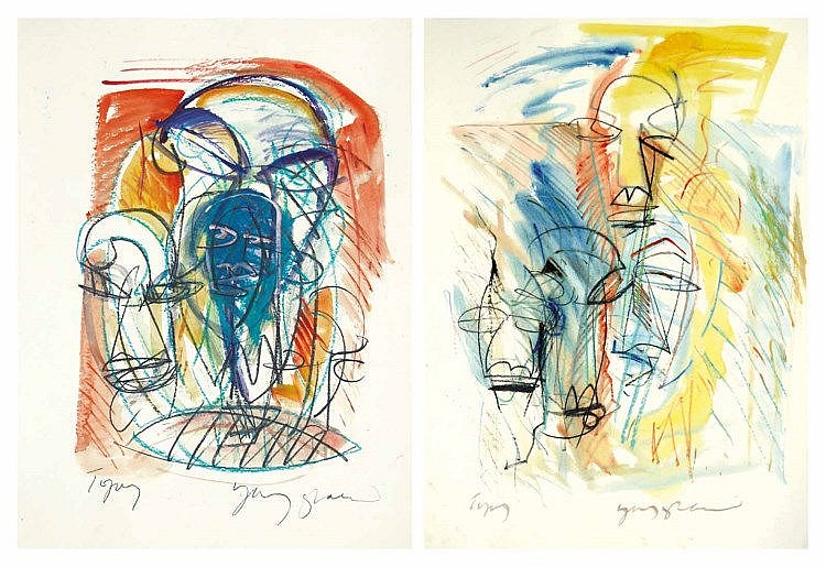YUSOF GHANI (b. 1950), Masks, undated, watercolour on paper