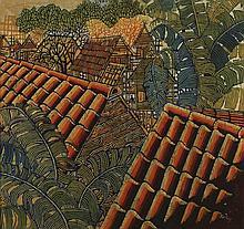 KOAY SOO KAU (b. 1946), Urbanisation, 1979, batik