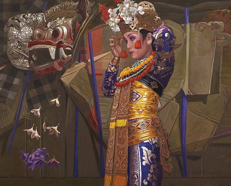 DEDE ERI SUPRIA (b. 1956), Beauty Of Bali, 2014, oil on canvas