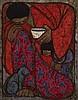 CHUAH THEAN TENG, DATO' (b. 1912 - d. 2008), Feeding The Cat, 1975, batik, Thean Teng Chuah, Click for value