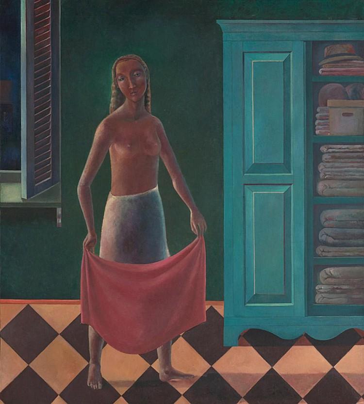 NOOR MAHNUN MOHAMED (b. 1964) AM ABEND, 1993, Oil on canvas