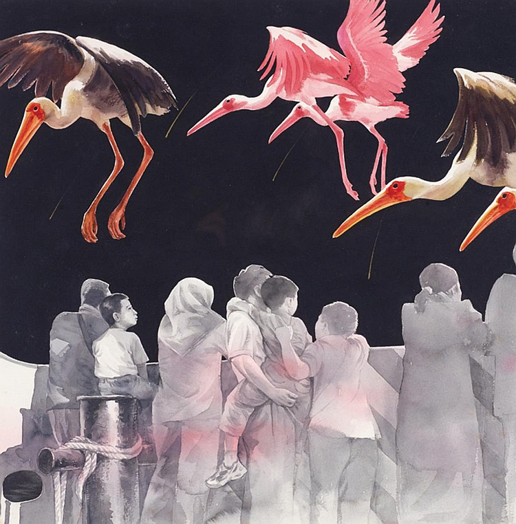 TANG YEOK KHANG (b. 1975) BEYOND VISIBILITY II, 2008, Watercolour on paper
